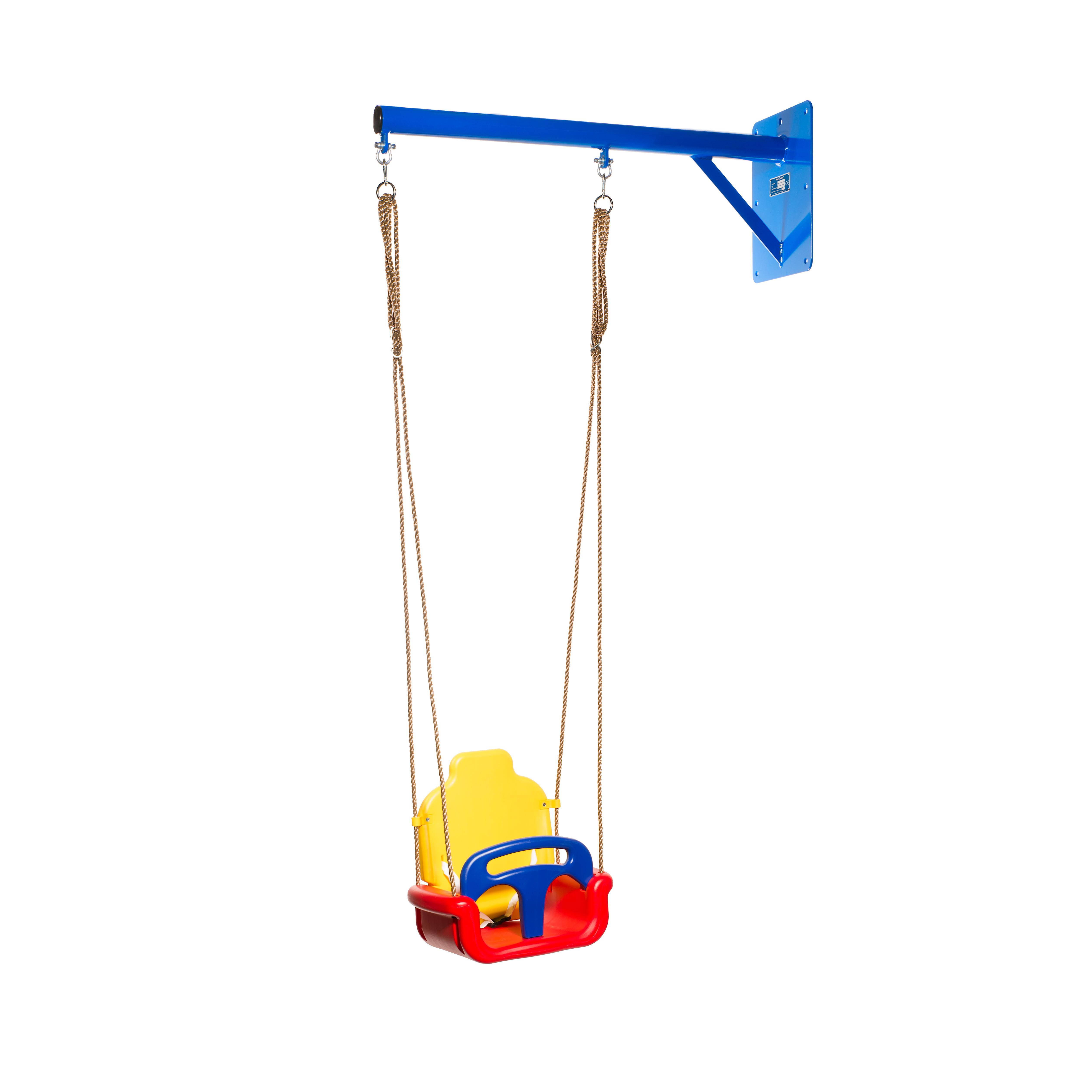 WallySwing® blauw met baby-schommelzitje