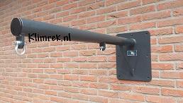 RAL7016-WallySwing®-schommel-muurschommel-schommelbuis-schommelpaal-wandschommel-gevelschommel-klimrek.nl