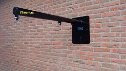 RAL9004-WallySwing®-muurschommel-schommel-gevelschommel-schommelbeugel-onbehandeld-garantie-aanbieding-schommelbeugel
